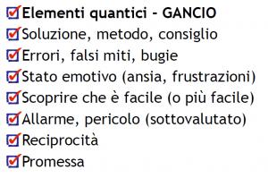 Elementi quantici ganci cognitivi Content marketing Psicologia psicologi digitali